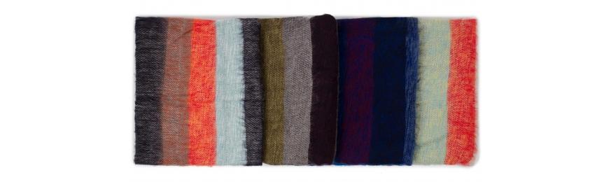 Chal de rayas  lana de yak 100%